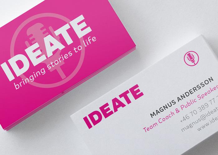 Visitkort & webb till IDEATE
