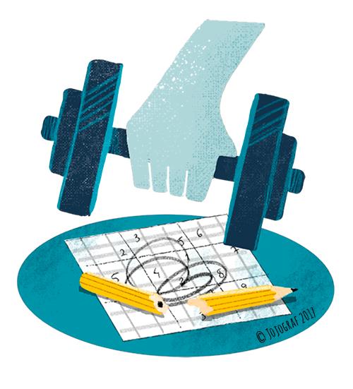Redaktionell illustration till tidningen Chef 2017. © Jojograf