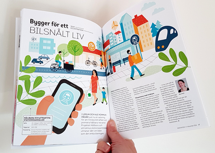Uppslag i tidningen Innovation