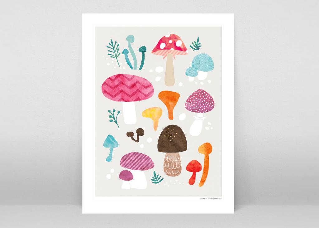svampar poster ©Johanna Gustavsson 2018