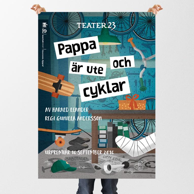 Affisch, Teater 23 © Jojograf 2016