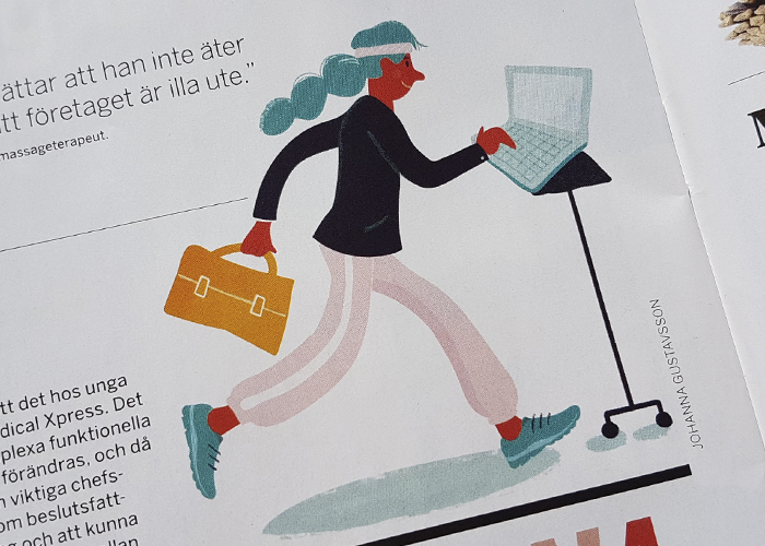 Illustrationer till tidningen Chef