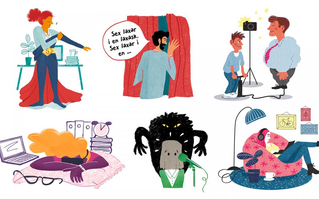 Fler illustrationer till Chef