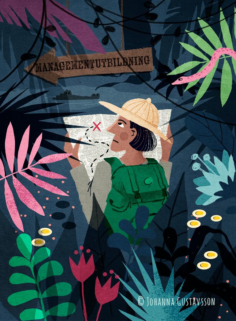 Redaktionell illustration till tidningen Chef © Jojograf 2018
