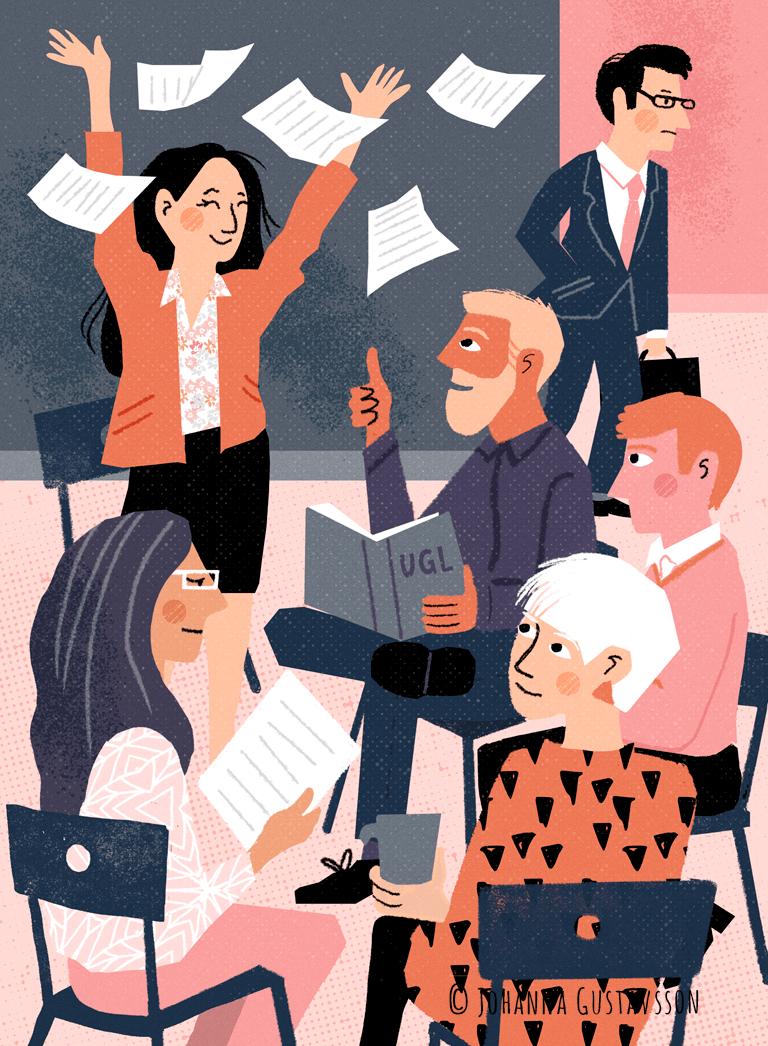 Redaktionell illustration till tidningen Chef. © Jojograf 2018